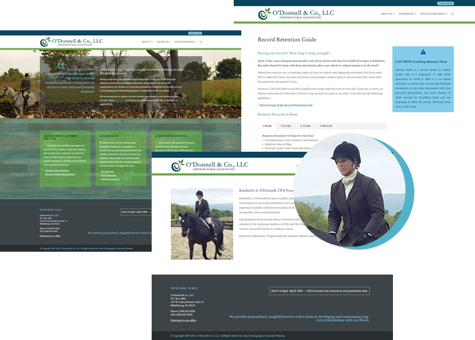 O'Donnell & Co, LLC Website Redesign