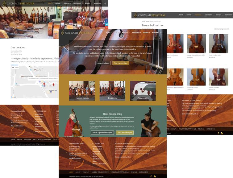 Cincinnati Bass Cellar Website Redesign